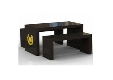 China Wooden Black Nesting Display Tables Light Duty High Grade For Garment Mall supplier