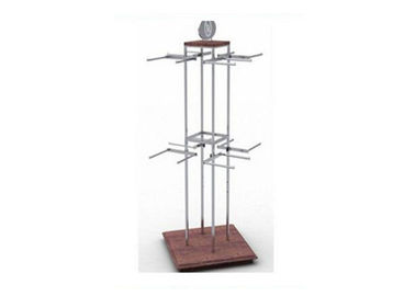 China Clothing Store Gondola Display Stands With Steel Hanging Bars 1000 * 1000 * 2400MM supplier