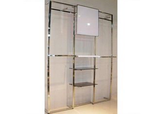 China Stainess Steel Wall Mounted Display Racks 600 * 300mm For Displaying Garment supplier