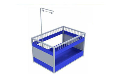 China Plastic Easy Assembly Promotional Display Counter 800 * 500 * 1000mm For Supermarket Mall supplier