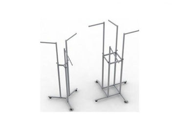 China Stainless Steel Gondola Display Stands Easy Assembly Movable For Shopping Mall supplier