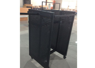 China Black Powder Coated Gondola Display Stands Floor Standing With Four Sides View supplier