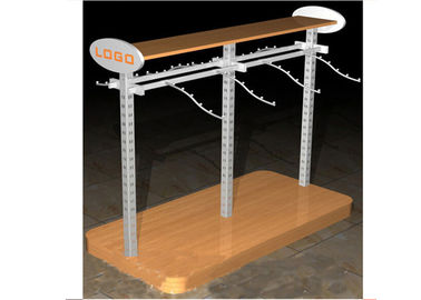 China Multi - Funcutional Metal Garments Gondola Display Stands MFD Material With Hanging Hook supplier