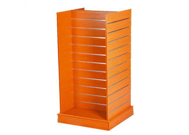 China Double Sided Floor Standing Retail Wall Shelving , Pegboard Display Stand 600 * 600 * 1380MM supplier