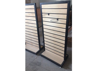 China Metal Frame Slatwall Display Stand Two Sides 1200 * 450 * 1380MM Multi - Funcutional supplier
