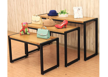 China Fashion Style Merchandise Display Tables , Lightweight 3 Tier Retail Display Table supplier