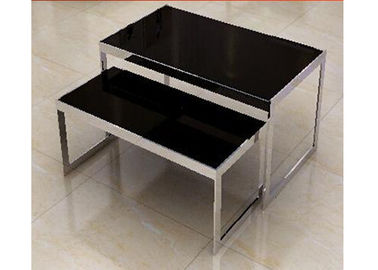 China Stainless Steel Nesting Display Tables 1200 * 600 * 900MM For Advertisment Exhibition supplier