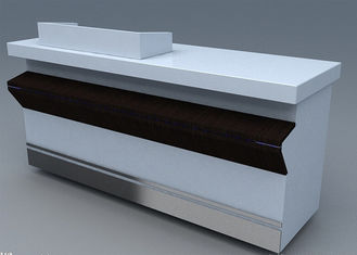 China Commercial Steel Edge Retail Shop Counters , Practical Store Checkout Counter supplier
