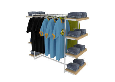 China Middle Floor Standing Industrial Clothing Rack , Mobile Light Duty Clothing Storage Racks supplier