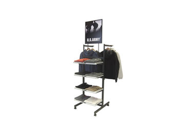 China Durable Metal Industrial Clothing Rack , Easy Assembly Wall Mounted Clothes Rack supplier