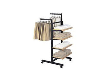 China Recyclable Metal Garment Display Stand Floor Standing 450MM Width For Retail Store supplier