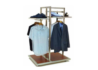 China Floor Standing Garment Display Stand Modern Style Adjustable Shelf For Shopping Mall supplier