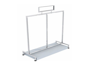 China Round Tube Freestanding Clothes Rail  For Shopping Mall , Mobile Commercial Clothing Racks supplier