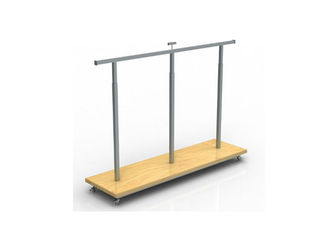 China Top And Down Adjustable Garment Display Stand 1200 * 400 * 1400MM For Clothing Shop supplier