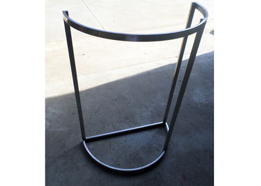 China Half Round Type Brushed Stainless Steel Garment Display Stand D=800MM supplier