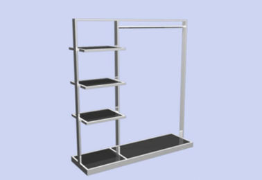 China Metal Display Rack  / Garment Display Stand Hanging Shelf For Bedroom And Shop supplier