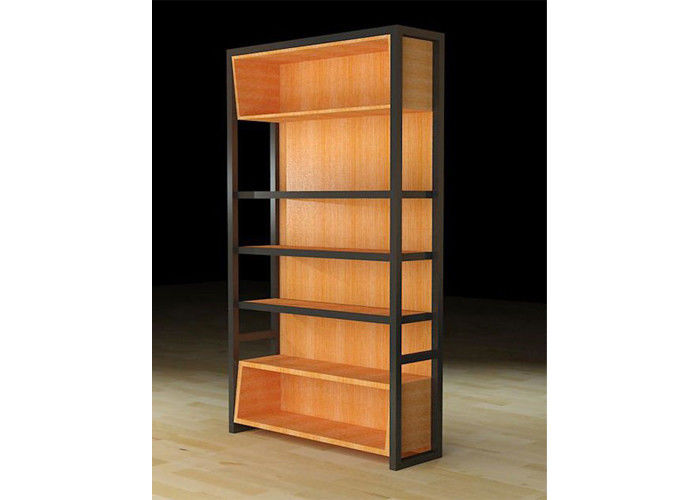 Light Duty Wooden Display Cabinets Wall Hanging Case For Retail