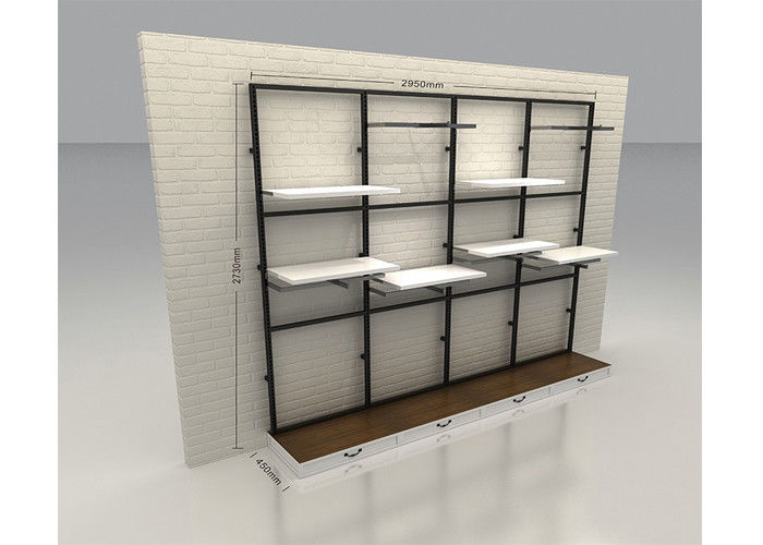 Commercial Retail Wall Mounted Display Racks Modern Style