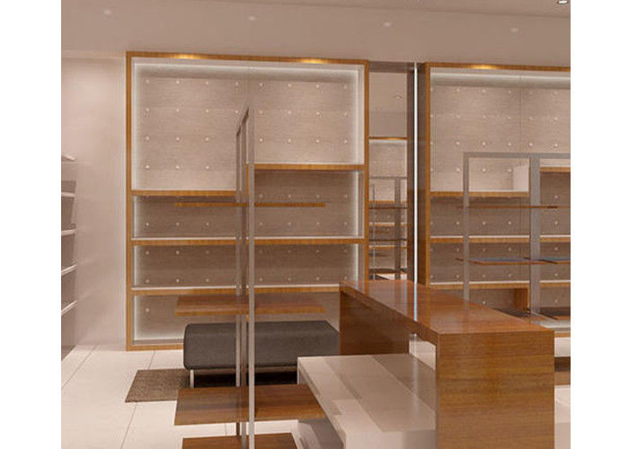 LED Light Interior Wall Mounted Display Case , Commercial Wall Mounted  Glass Display Cabinets