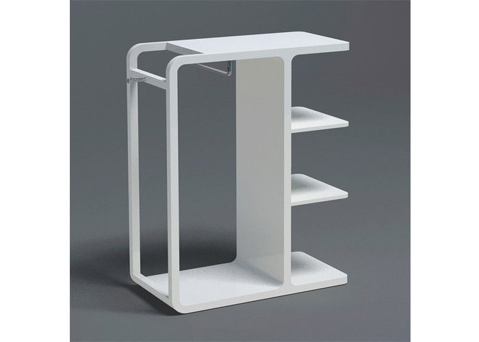 Exhibition Stand White : High glossy white painted garment display stand with