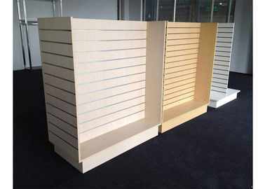 China Customized Slatwall Display Units , Store Display Shelving For Sport Clothing Shop factory