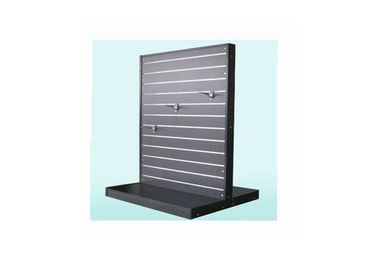 Black Commercial Store Display Fixtures MDF Material , Customized Pegboard Display Stand