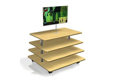 Middle Flooring Stand Wood Display Table , Practical 3 Tier Retail Display  Tablev