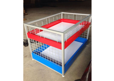 Commercial Two Layers Mobile Promotion Display Counter Four Feet For Supermarket