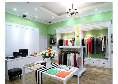 Luxury Simple Modern Decoration Retail Shop Fittings , Free Design Slatwall Shop Fittings