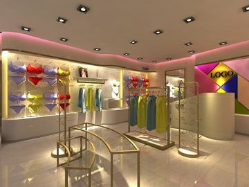 Metal Retail Garment Shop Fittings Modern Style Customized With Promotion Shelf