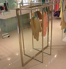 China Stainless Steel Clothes Display Hanging Rack Metal Clothes Stand With ODM / OEM Service factory