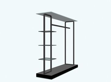 China Simpe And Elegant Design Metal Clothing Store Display Furniture / Garment Rack / Clothes Iron Stand factory