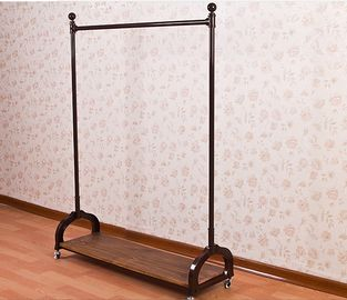 Stainless Steel Metal Cloth Rack / Garment Showrooms Display Stand