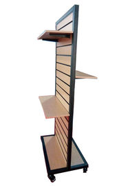 Custom Made Retail Two Sideds Slatwall Display Stand Metal Or MDF Material