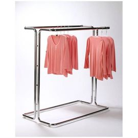 Fashionable Metal Single Bar Garment Display Stand Clothes Hanging Rack For Hanging Items