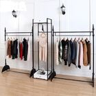 Stainless Steel Clothes Display Hanging Rack Metal Clothes Stand With ODM / OEM Service