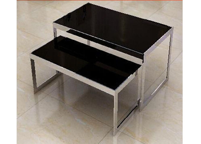 Stainless Steel Nesting Display Tables 1200 * 600 * 900MM For Advertisment Exhibition
