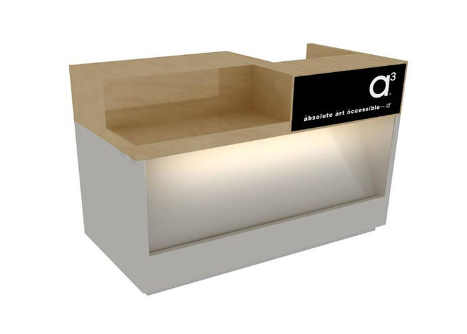 Fashion Style Retail Checkout Counter Light Duty Eco - Friendly For Clothing Shop