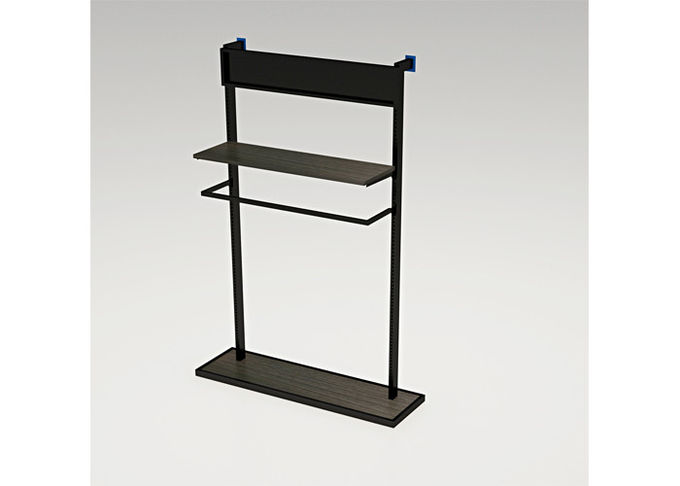 Freestanding Metal Wall Mounted Shelving Unit , Easy