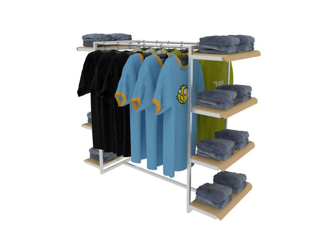 Middle Floor Standing Industrial Clothing Rack , Mobile Light Duty Clothing Storage Racks