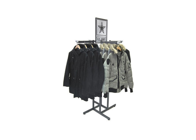 High Grade Rolling Hanging Rack Stainless Steel , Commercial Circular Clothes Rack