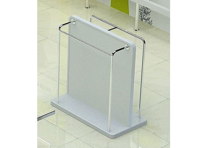 Modern Lady Clothes Shop Garment Display Stand With MDF Painting